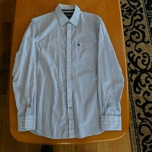 Mens American Eagle Casual Button-Up Shirt